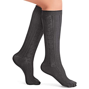 8f8d916cc31 Amazon.com  Cable Knit Knee High Socks - Set of 4 Different Colors ...