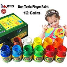 iMustech Washable Finger Paints, 12 Cols Non Toxic Painting for Toddlers, Finger PaintingKit, Color Wonder Finger Paints, Safe Baby Paint, Art Supplies for Toddlers and Kids,12 X 30 ml