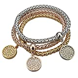 Long Way Women's Gold Silver Plated Chain Bracelet