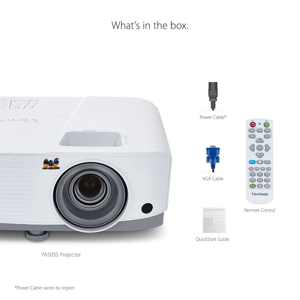 ViewSonic PA503S 3600 Lumens SVGA HDMI Projector for Home and Office by ViewSonic (Image #5)