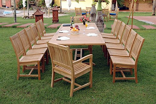 Set 33a 13 piece dining set with 117 valencia for 13 piece dining table set