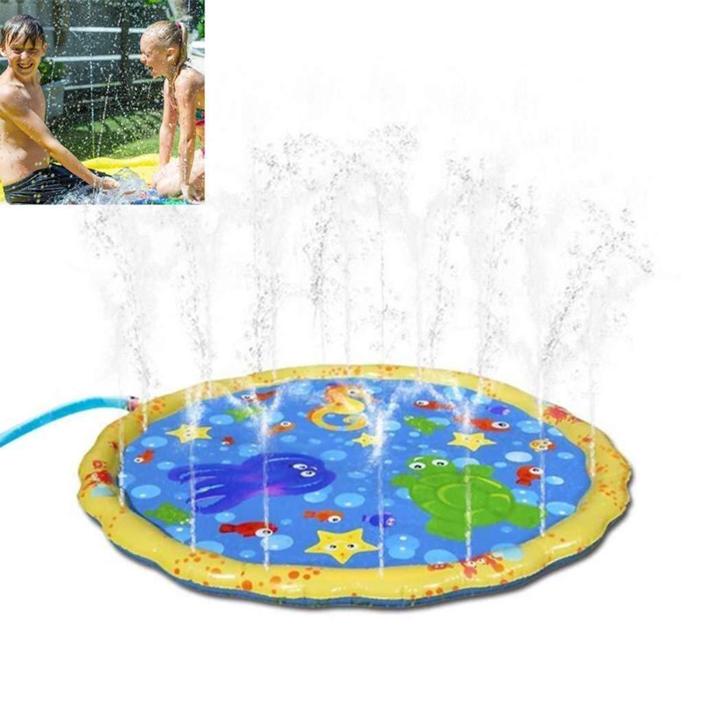 DAMAI STORE Summer Pool Inflatable,100cm Garden Sprinkle Splash Play Mat,Water Spray Toy Kids Baby Pool Sprinkler Pad Swimming