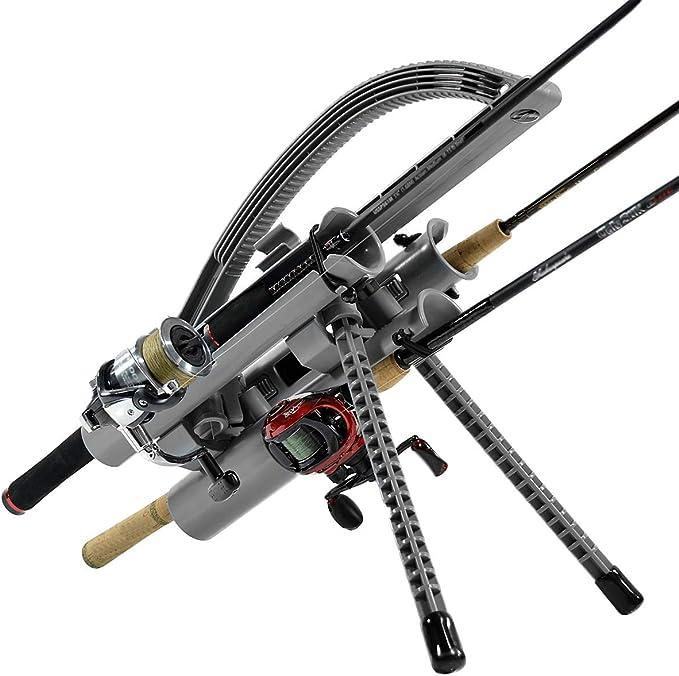 MOUNTS ONLY Tri-Mount Fishing Pole Storage Rod-Runner 3 Rod Holder Fishing Rod Rack White