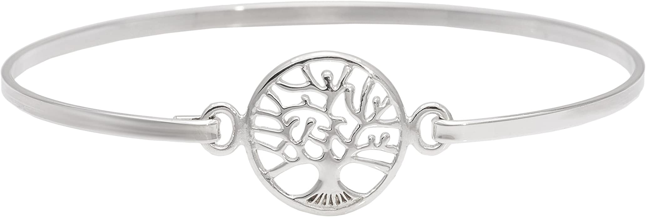Silverly Women's 925 Sterling Silver Tree of Life Plate Hook