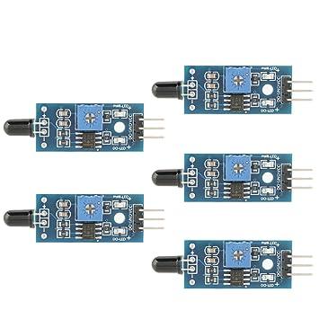 Walfront - Detector de Llamas por Infrarrojos para detección de Llama de Amplio Voltaje LM393 (5 Unidades): Amazon.es: Electrónica