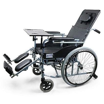 DPPAN Drive Medical Transport Silla de ruedas Mesa de comedor plegable liviana, aleación de aluminio