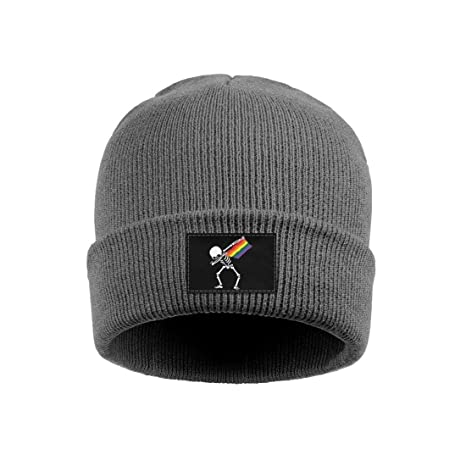 Stretchy /& Soft Winter Cap Gay Pride Lettering On A Rainbow Heart Women Men Solid Color Beanie Hat Thin