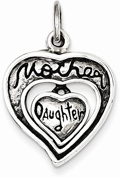 Sterling Silver Antique Mother /& Daughter Charm New Pendant