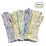 Mam's Garden Flora Gloves for Women Gardening Driving Jogging and Outdoor Activity Set of 5 pairs Medium