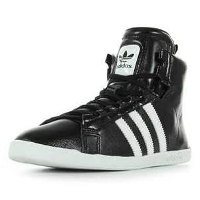 adidas Women s Round It Mid W Trainers Black Black Black Size  8 ... 7c245d76bd