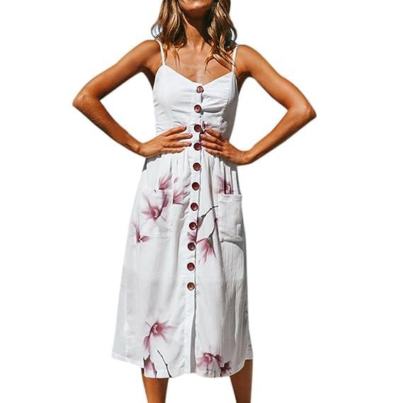 Atractivo Vestido de manga larga estampado floral Vestidos de fiesta en la playa Vestido de verano