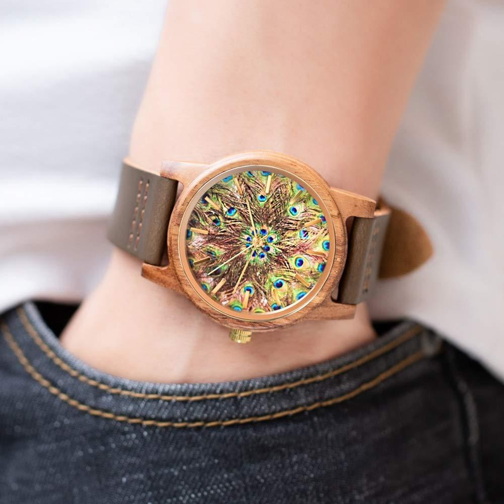 Klockor #Wrist herr kvartsklocka för män, snygg träklocka, vardaglig träklocka, 10 meter vattentät, är den bästa gåvan för familj och vänner dekoration (färg: A) b