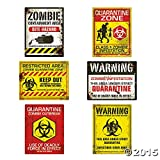 zombie supplies - Zombie Halloween Party Posters - Assorted Styles - 6 pieces