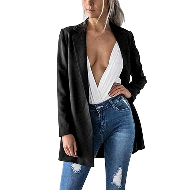 AHOOME Femme Casuel Blazer Veste de Tailleur Slim OL Manche Longue Costume d'Affaires en Automne 2017