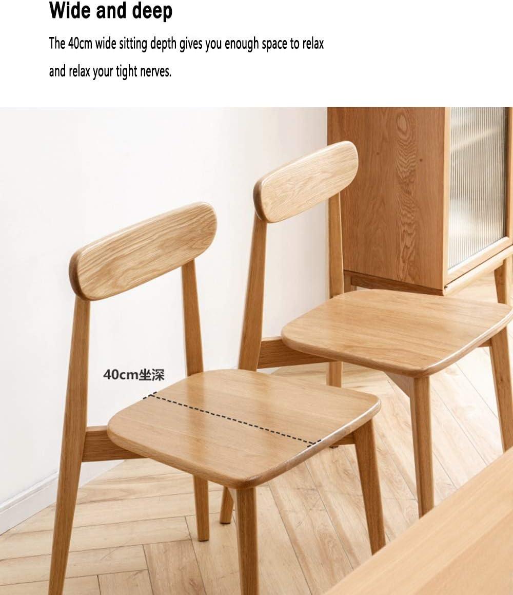 LJFYXZ Chaises Salle Manger Chaise de salle à manger design minimaliste moderne Bois massif Meubles de salon Chaise de loisirs de luxe d\'hôtel (Color : Wood color) Wood Color