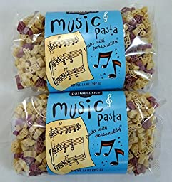 Music Pasta Music Notes & Treble Cleffs Shapes - 2 Pack