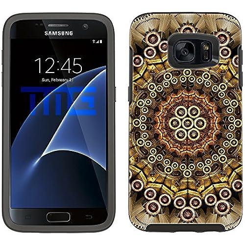 Skin Decal for Otterbox Symmetry Samsung Galaxy S7 Edge Case - Mandala Clockwork on Black Sales