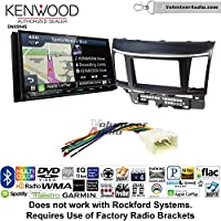 Volunteer Audio Kenwood Excelon DNX994S Double Din Radio Install Kit with GPS Navigation Apple CarPlay Android Auto Fits 2008-2015 Mitsubishi Lancer