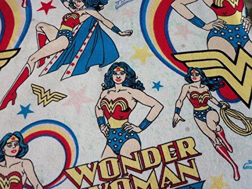 Wonder Woman Fabric Flannel Fat Quarter New - Rate International Shipping Rates Flat