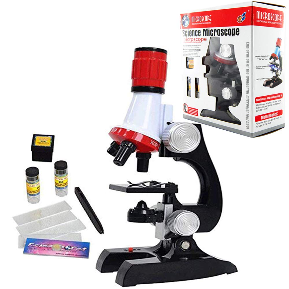 Extpro Microscope Kit Science Experiment Supplies LED 100x 400x and 1200x Magnification for Boys Girls Students by Extpro