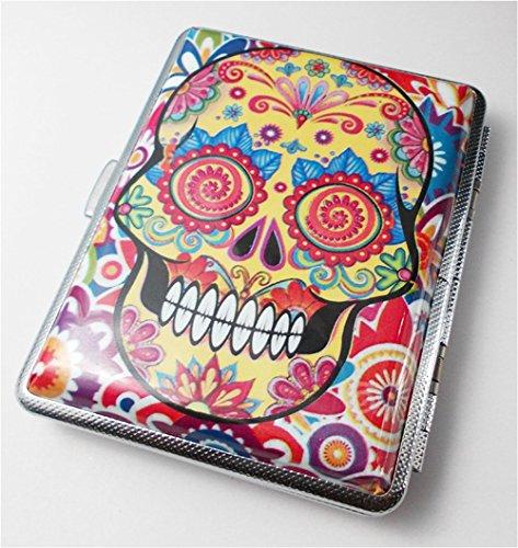 - Day of the Dead Sugar Skull Cigarette Case Wallet Card Holder