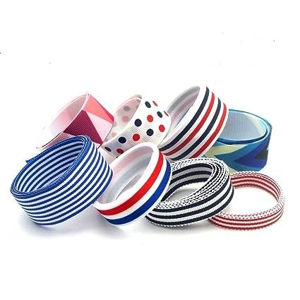 6 unds cintas marineras algodon saten perfectas para mil ideas lazos pelo, canastillas, vestiditos