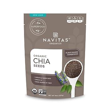 Amazon.com: navitas Naturals Orgánica Chia semillas 227 g ...