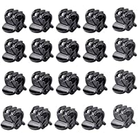 20PCS Mini Plastic Hair Clips-Baby Girls Hair Claw Clamps Hairpin Styling Accessories(Black)