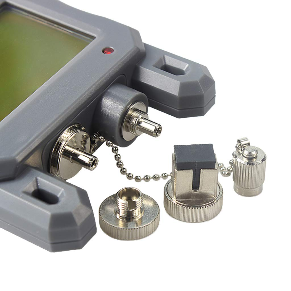 -70 to perfk Premium Handheld Optical Power Meter with 10mW Visual Fault Locator /& Fiber Optic Cable Tester 10dBm Gray
