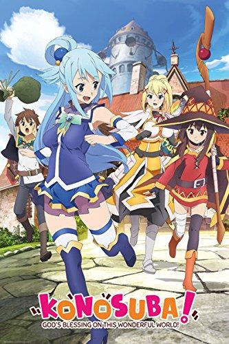 Konosuba-Manga-Anime-TV-Show-Poster-Print-Key-Art-Size-24-x-36