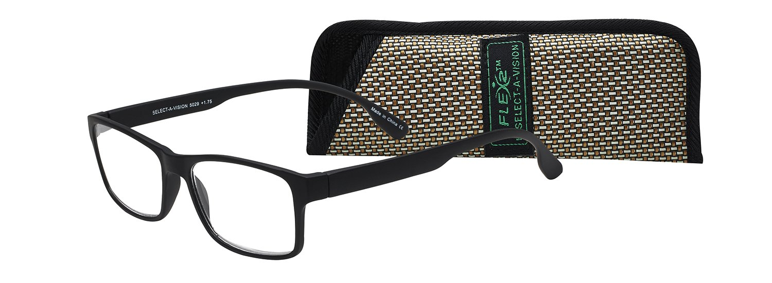 99b9090b4889 Amazon.com  Select-A-Vision Flex 2 Lightweight Flexible Square Readers