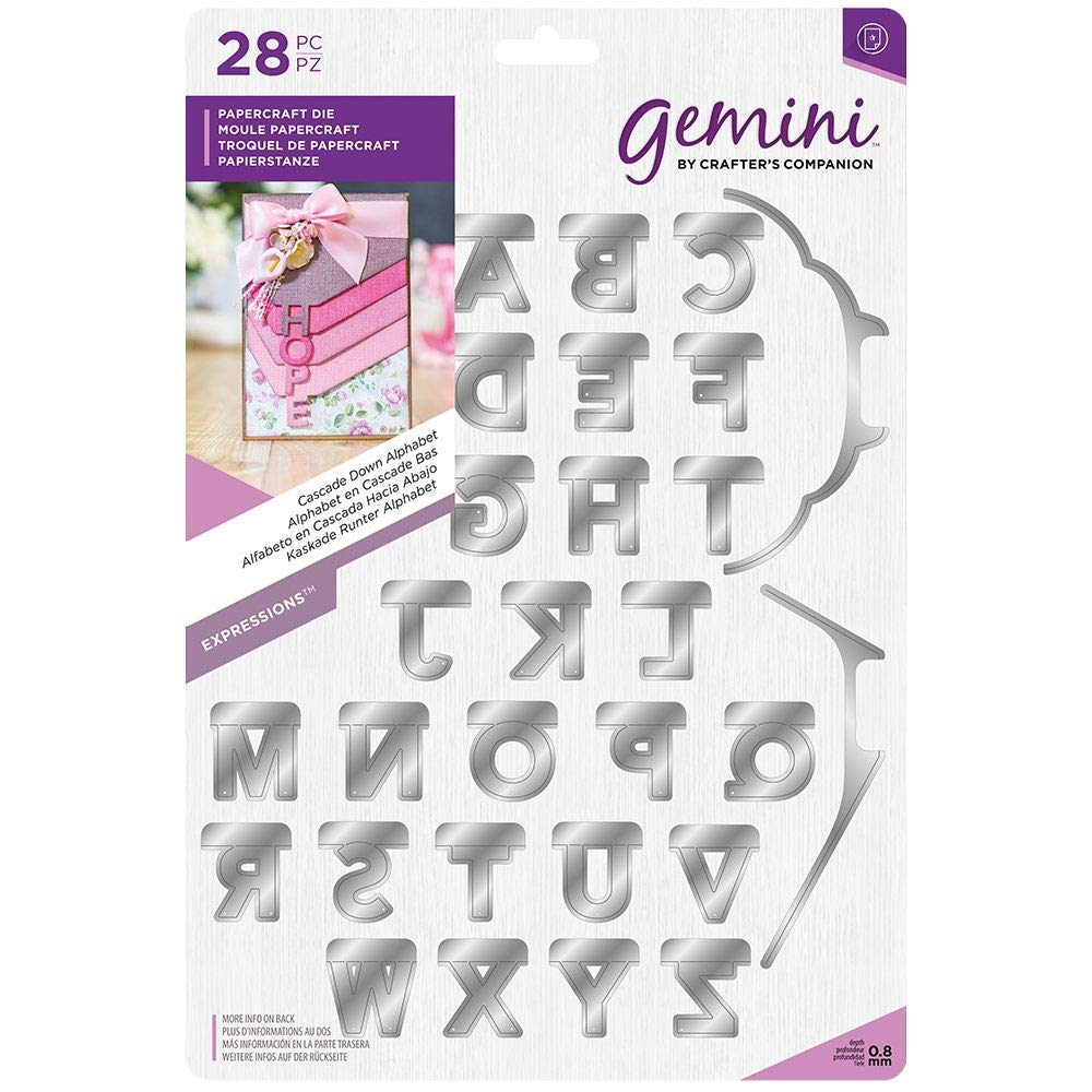 Crafter's Companion Gemini - Expressions Die - Cascade Down Alphabet