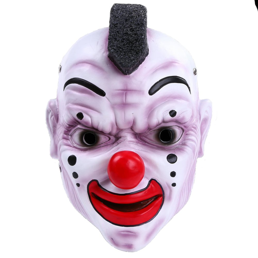 KTYX Halloween Bar Party Maske Schädel Band Maske ROT Nase Clown Maske Harz Handwerk Maske Maske
