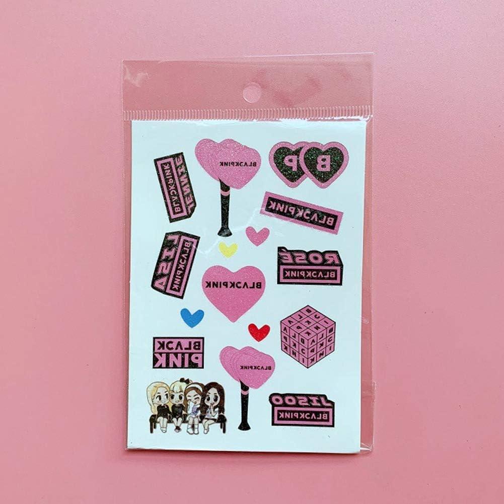 Amazon Com Gerfogoo 2020 Kpop Blackpink Stickers Diy Album Scrapbook Fans Gift Jisoo Jennie Cute Design H01 9 512 5cm