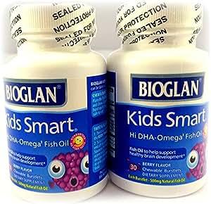 Bioglan kids smart hi dha omega 3 fish oil 30 for Chewable fish oil