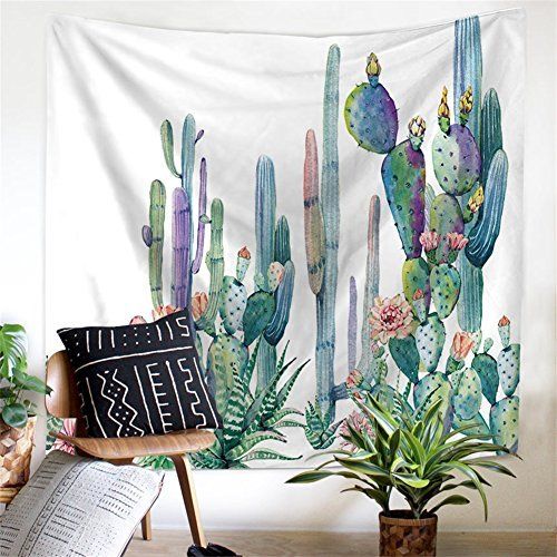 QEES Cactus Decor Tapestry Wall Hanging Decor Art Home Decoration Bedroom...