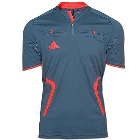 adidas - Camiseta de árbitro, color gris y rojo azul y rojo gris oscuro y