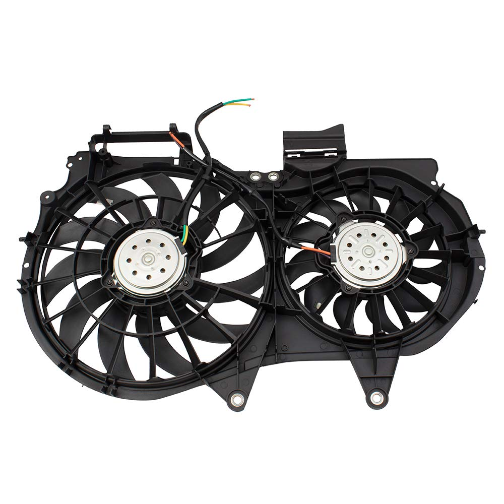 Dual Cooling Fan Assembly Replacement for 02-09 Audi A4 A4 Quattro A4 Cabrio 4 cylinder 8E0121207F AU3115107