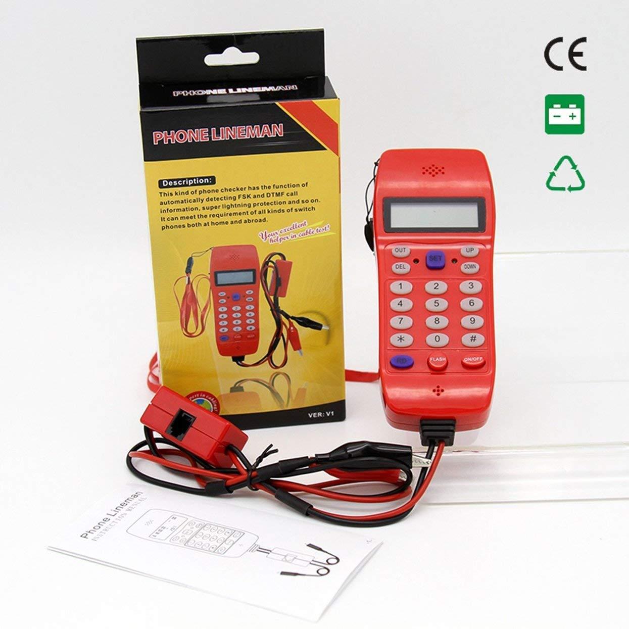 Tellaboull Tester Cavo Linea telefonica NF-866 con Display Tele Fibra Ottica Strumento di Verifica DTMF ID chiamante Rilevamento Automatico Macchina di Ricerca