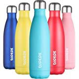BJPKPK Stainless Steel Water Bottles -17Oz/500ml -Insulated Water bottles Keep cold for 24 Hours and hot for 12 Hours, Metal