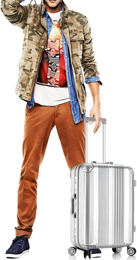 Silver Blue 20 inches, 24 inches, 26 inches, 28 inches Rose Gold Z/&YY Aluminum Frame Trolley case Universal Wheel Trunk Retro Men and Women Luggage Chassis Black
