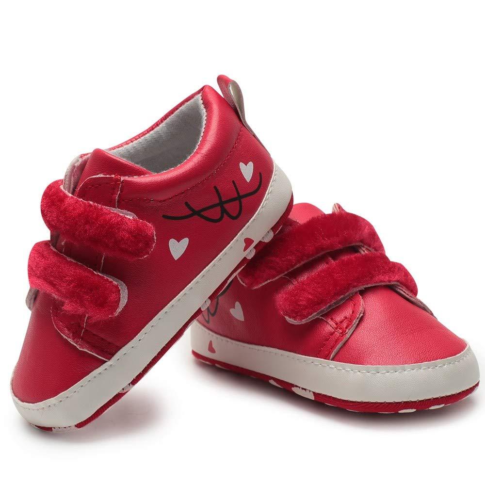 Toddler B/éb/é Nouveau-n/é Filles Gar/çons Coeur Impression Graffiti Chaussures /à Semelle Souple Chaussure Xinantime Chaussures B/éb/é