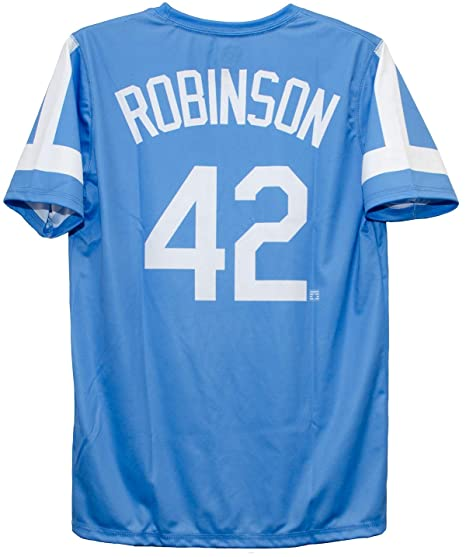 Outerstuff Jackie Robinson Brooklyn Dodgers Blue Youth Pullover Jersey  (Youth Large 14-16) 48cd8dfb513