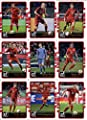 2016 Donruss Soccer FC Bayern Munich Team Set of 9 Cards in 4-Pocket Collector's Album: Arjen Robben(#33), Arturo Vidal(#34), David Alaba(#35), Manuel Neuer(#36), Mario Gotze(#37), Philipp Lahm(#38), Robert Lewandowski(#39), Thomas Muller(#40), Xabi Alons