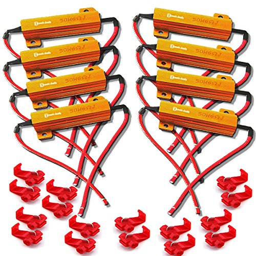 Zento Deals 8 Pieces of 6 Ohm 50W - Led Load Equalizer