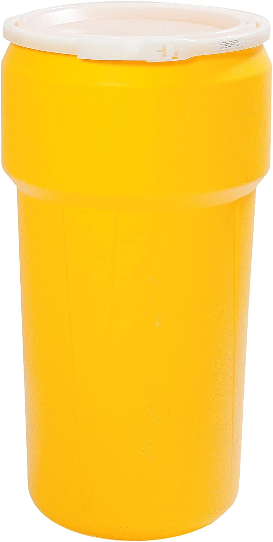 Eaglestar 1623 Yellow Lab Pack Open Head Drum, 20 gal Capacity
