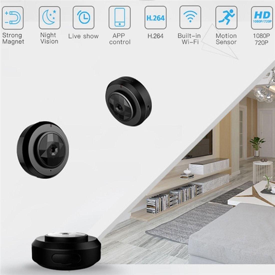 SODIAL C6 Mini monitoreo Remoto inalambrico Videocamaras Miniatura deteccion de Movimiento y resolucion de Video 720P Vision Nocturna HD Desgaste portatil ...