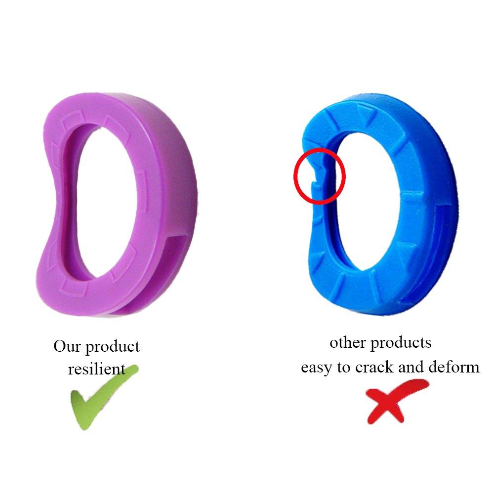 / Anneaux de codage de cl/é en plastique en 9 couleurs diff/érentes UnicLife 36PCS Caps cl/és / /Étiquettes de couverture