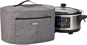 HOMEST Dust Cover Compatible with Hamilton Slow Cooker 6-10 QT, Dust Free with Aluminum Film Covered inside,Grey