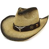 Hombres Mujeres Retro Western Cowboy Riding Hat Cinturón De Cuero Gorra De ala Ancha Sombrero De Hombre Sombreros De…